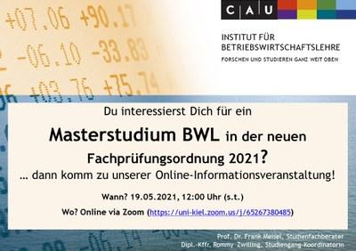 Masterstudium BWL