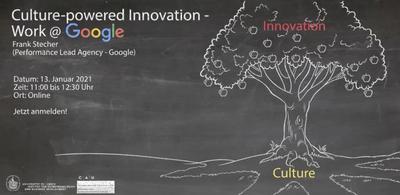 Grafik zum Vortrag Culture-powered Innovation - Work @ Google