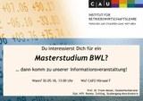 Einladung zur Informationsveranstaltung für den Master BWL_Bild