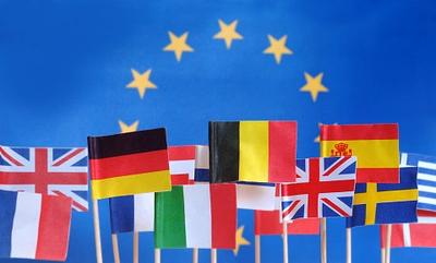 Europäische Flaggen für das Erasmus-Programm